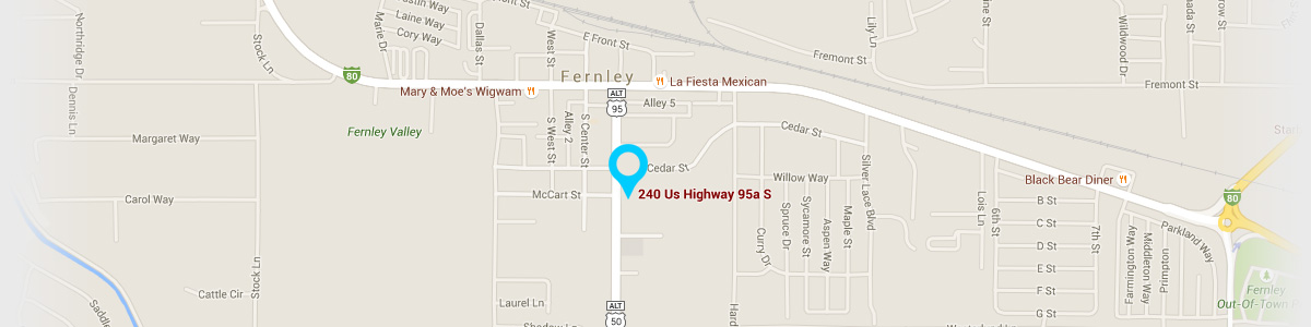 Directions to our Fernley Office